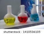 laboratory glassware with... | Shutterstock . vector #1410536105