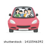 chinese family on a trip  ... | Shutterstock .eps vector #1410546392