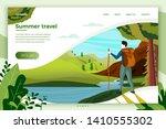vector illustration   camping... | Shutterstock .eps vector #1410555302