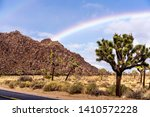 rainbow in a dessert  joshua... | Shutterstock . vector #1410572228