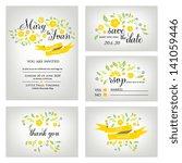 wedding invitation  thank you... | Shutterstock .eps vector #141059446