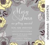 wedding invitation | Shutterstock .eps vector #141059476