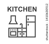 kitchen   linear vector icon | Shutterstock .eps vector #1410630512