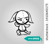 crazy evil rabbit. cute evil...