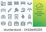 House And Garden Icons Set. Se...