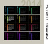 colorful 2014 calendar design... | Shutterstock .eps vector #141064762