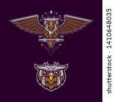 set of owl logo mascot... | Shutterstock .eps vector #1410648035