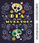 mexican day dead dia muertos... | Shutterstock .eps vector #1410652805