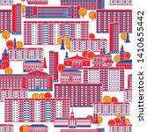 city seamless pattern. panel... | Shutterstock .eps vector #1410655442