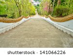 Long Stairs To Buddha Statue I...