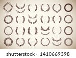collection of different vintage ... | Shutterstock .eps vector #1410669398
