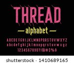 stitched alphabet design with... | Shutterstock .eps vector #1410689165