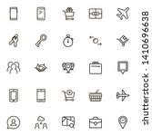 booking hotel line icon set....