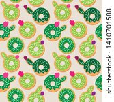 seamless vector background with ... | Shutterstock .eps vector #1410701588