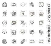 web hosting line icon set.... | Shutterstock .eps vector #1410708668