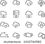 cloud computing line icons set  ... | Shutterstock .eps vector #1410764582