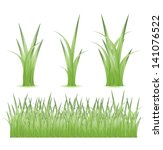 set of green grass | Shutterstock .eps vector #141076522