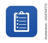 check list icon blue vector...