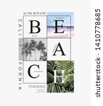 beach slogan with beach and... | Shutterstock .eps vector #1410778685