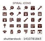 spiral icon set. 30 filled...
