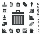 junk icon set. 17 filled junk icons.  Simple modern icons about  - Sandwich, Trash, Mustard, Delete, Hot dog, Trash can, French fries, Skip, Hotdog, Vending machine, Fried chicken