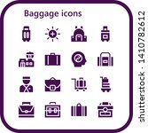 baggage icon set. 16 filled... | Shutterstock .eps vector #1410782612