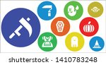 october icon set. 9 filled...   Shutterstock .eps vector #1410783248
