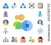 member icon set. 17 flat member ... | Shutterstock .eps vector #1410783752