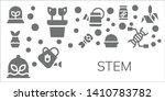 stem icon set. 11 filled stem...   Shutterstock .eps vector #1410783782