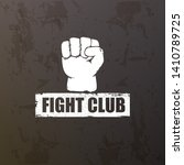fight club vector logo with... | Shutterstock .eps vector #1410789725