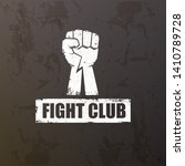 fight club vector logo with... | Shutterstock .eps vector #1410789728