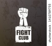 fight club vector logo with... | Shutterstock .eps vector #1410789755