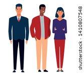 group of friends avatar cartoon ... | Shutterstock .eps vector #1410807548