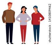 group of friends avatar cartoon ... | Shutterstock .eps vector #1410809462