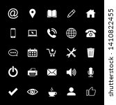 web icon set. contact us icons. ... | Shutterstock .eps vector #1410822455
