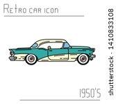 color vector icon american auto ... | Shutterstock .eps vector #1410833108