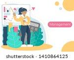 flat illustration manager woman ... | Shutterstock . vector #1410864125