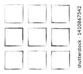 set hand drawn square frame....   Shutterstock .eps vector #1410867542