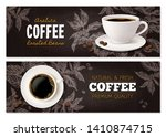coffee advertising concept with ... | Shutterstock .eps vector #1410874715