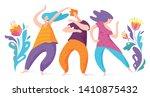 spontaneous dancing people.... | Shutterstock .eps vector #1410875432