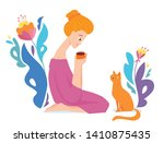 vector hygge illustration with... | Shutterstock .eps vector #1410875435