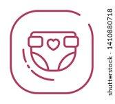 diaper line icon. concept of... | Shutterstock .eps vector #1410880718