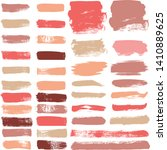 makeup strokes vector set ...   Shutterstock .eps vector #1410889625