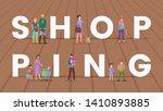shopping vector word concept... | Shutterstock .eps vector #1410893885