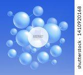 blue molecule atoms   abstract... | Shutterstock .eps vector #1410920168