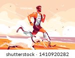 man with prosthetic legs... | Shutterstock .eps vector #1410920282