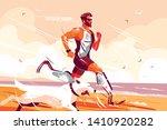 man with prosthetic legs... | Shutterstock .eps vector #1410920282