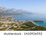 high view of the city of kemer... | Shutterstock . vector #1410926552