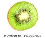 Slices Kiwi Fruit Isolated On...