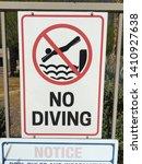 no diving sign symbol warning...   Shutterstock . vector #1410927638